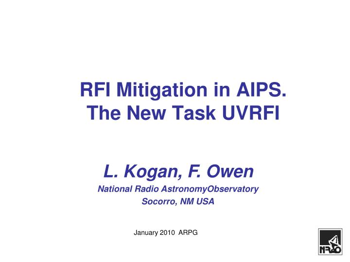 Rfi mitigation in aips the new task uvrfi