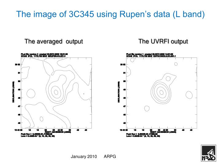 The image of 3C345 using Rupen's data (L band)
