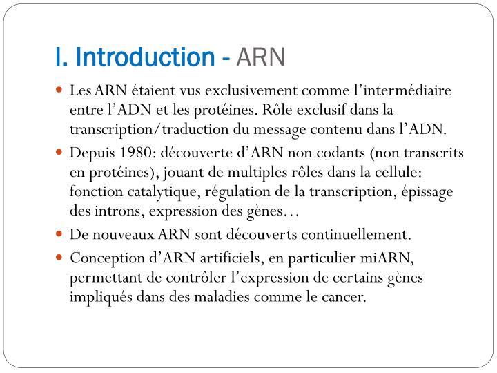 I. Introduction -