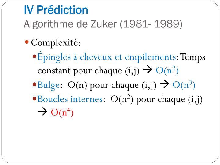 IV Prédiction
