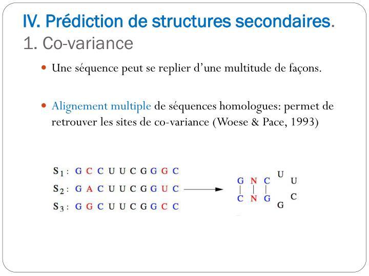 IV. Prédiction de structures secondaires
