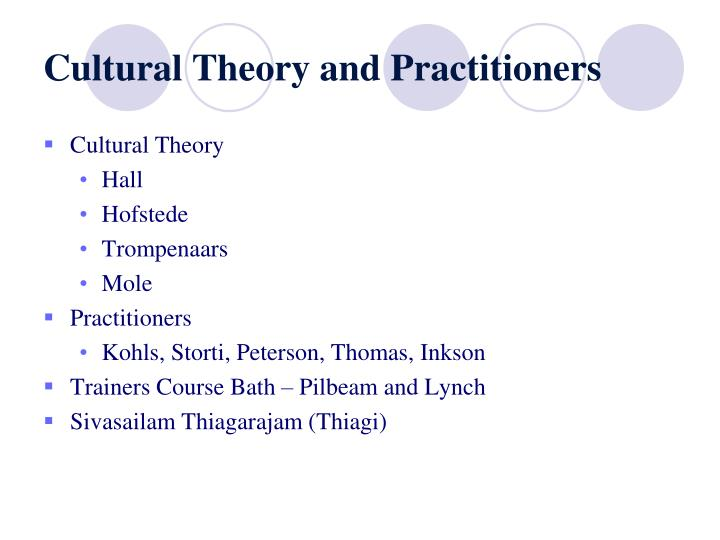 Cultural Theory and Practitioners