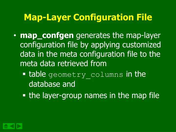 Map-Layer Configuration File