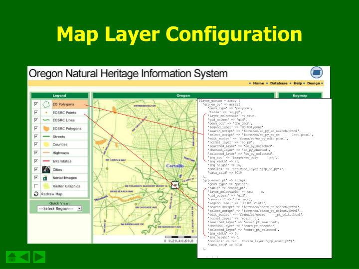 Map Layer Configuration