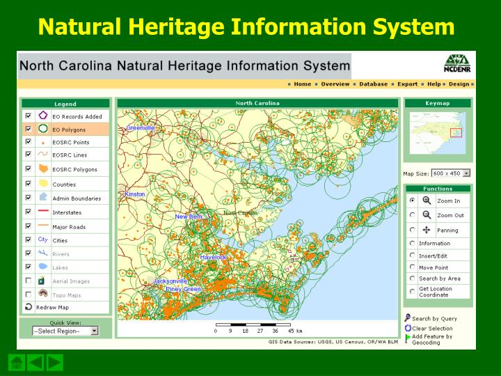 Natural Heritage Information System
