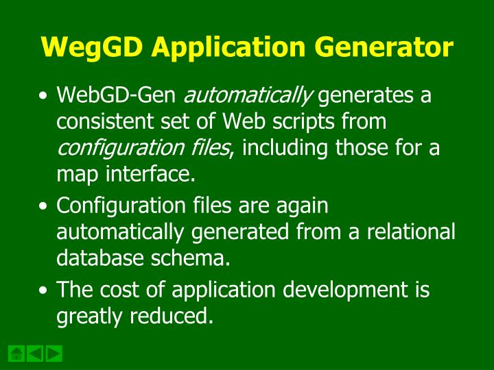WegGD Application Generator