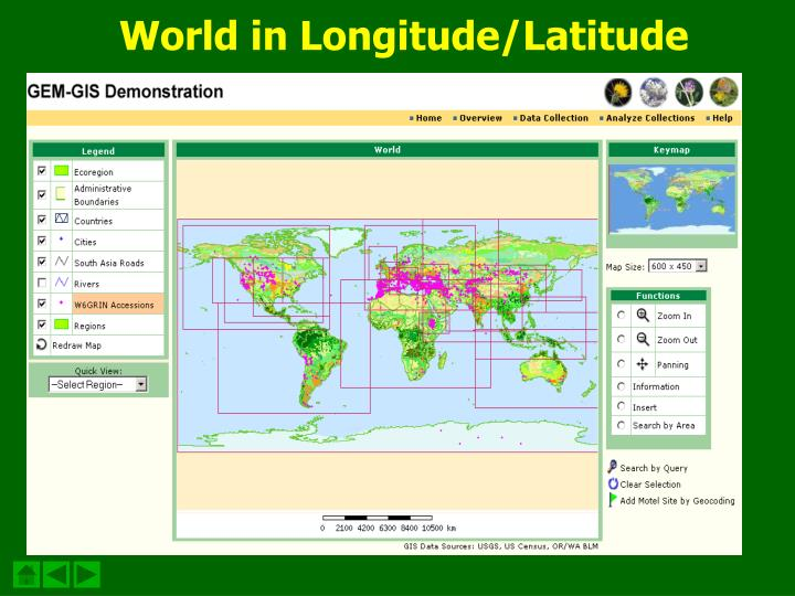 World in Longitude/Latitude