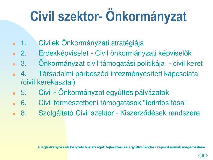 1. Civilek Önkormányzati stratégiája