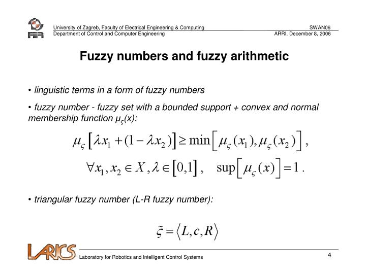 Fuzzy numbers and fuzzy arithmetic