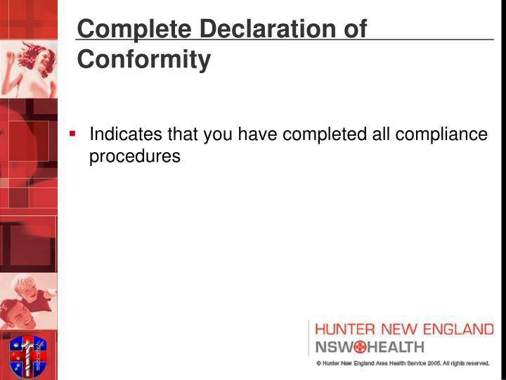 Complete Declaration of Conformity