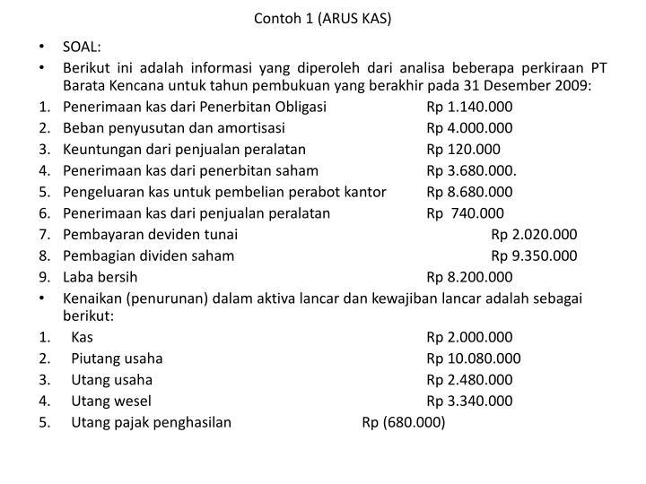 Contoh 1 (ARUS KAS)