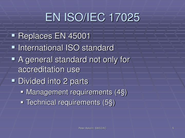 EN ISO/IEC 17025
