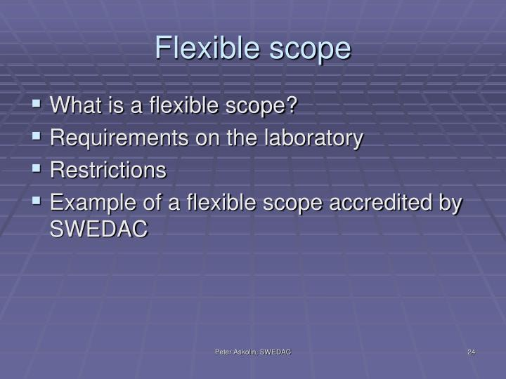 Flexible scope