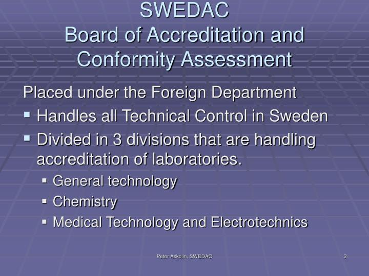 Swedac board of accreditation and conformity assessment