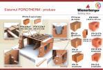 sistemul porotherm produse