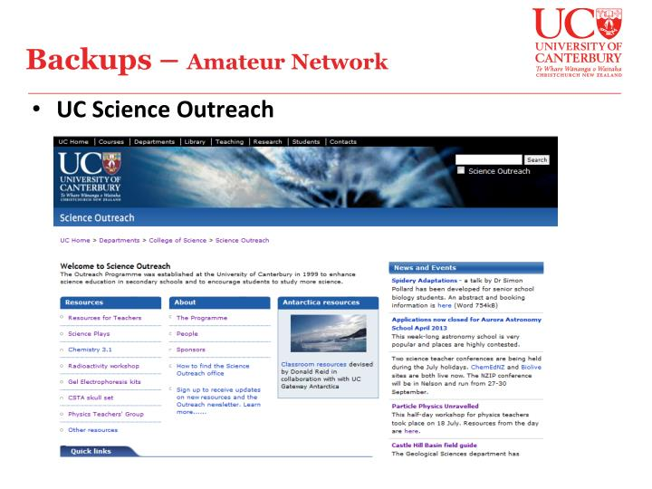 UC Science Outreach