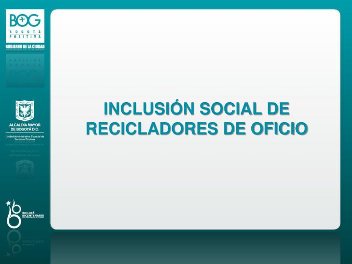 INCLUSIÓN SOCIAL DE