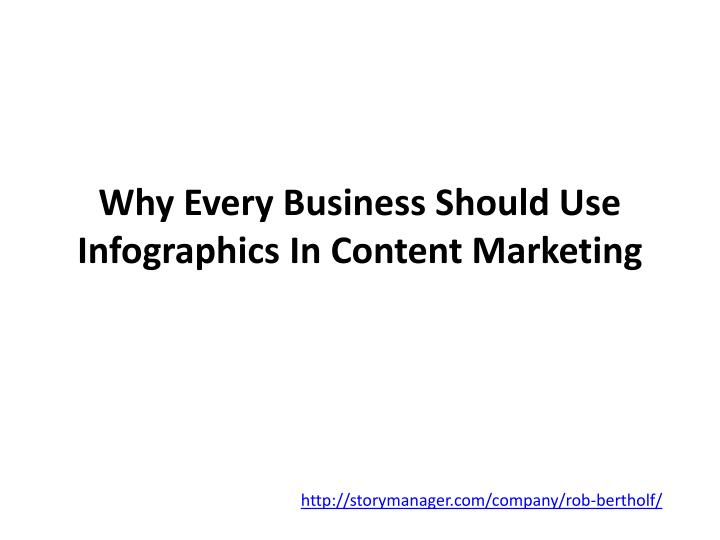 Why every business should use infographics in content marketing