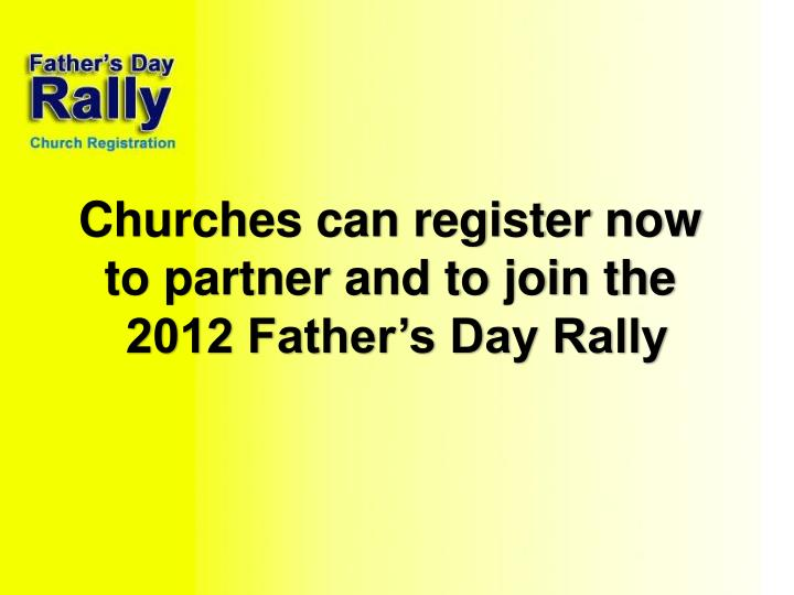 Churches can register now