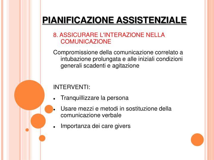 8. ASSICURARE L'INTERAZIONE NELLA COMUNICAZIONE