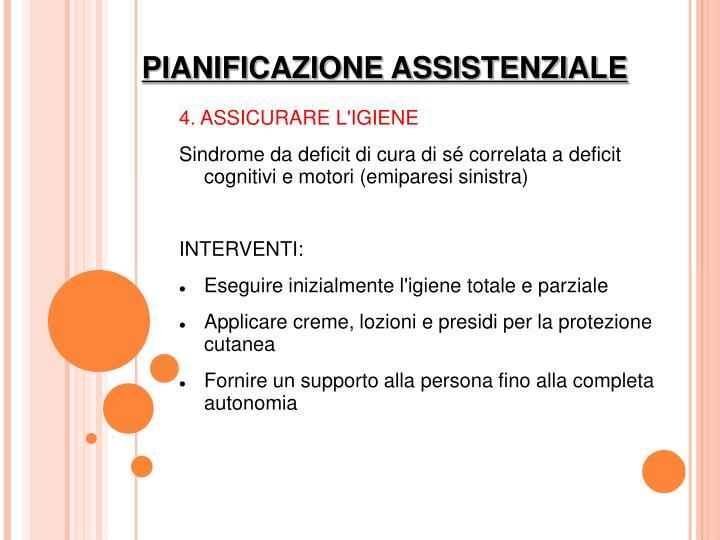 4. ASSICURARE L'IGIENE