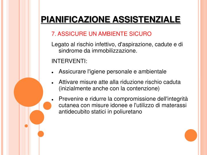 7. ASSICURE UN AMBIENTE SICURO