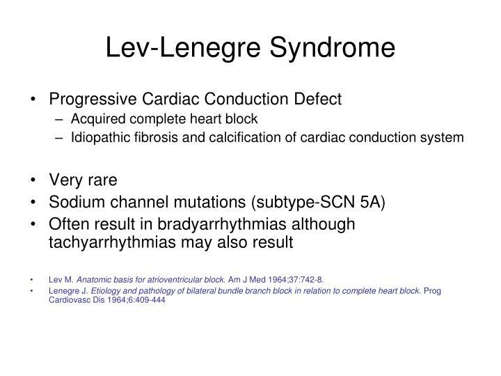 Lev-Lenegre Syndrome