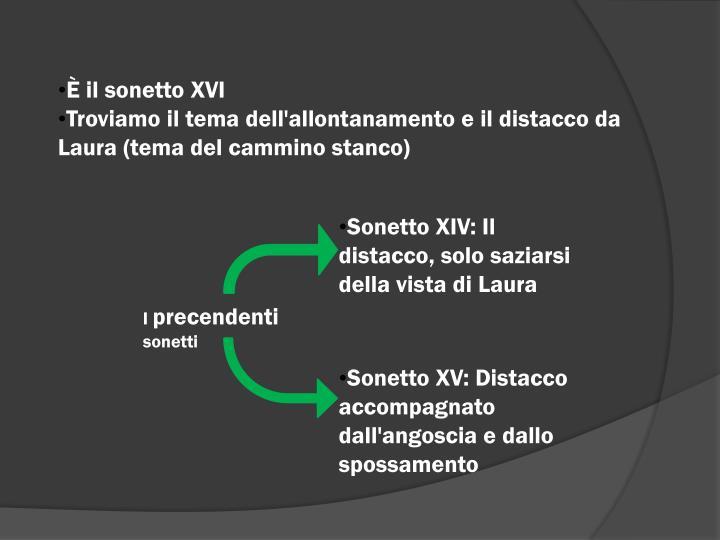 È il sonetto XVI