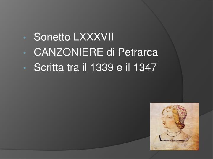 Sonetto LXXXVII