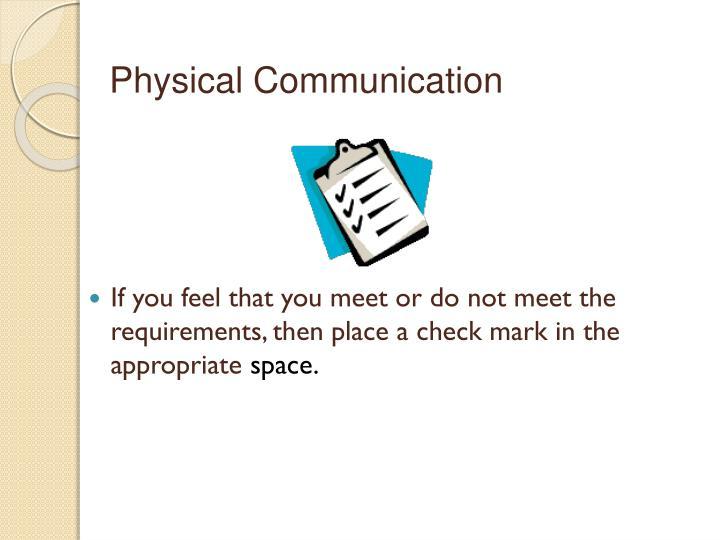 Physical Communication
