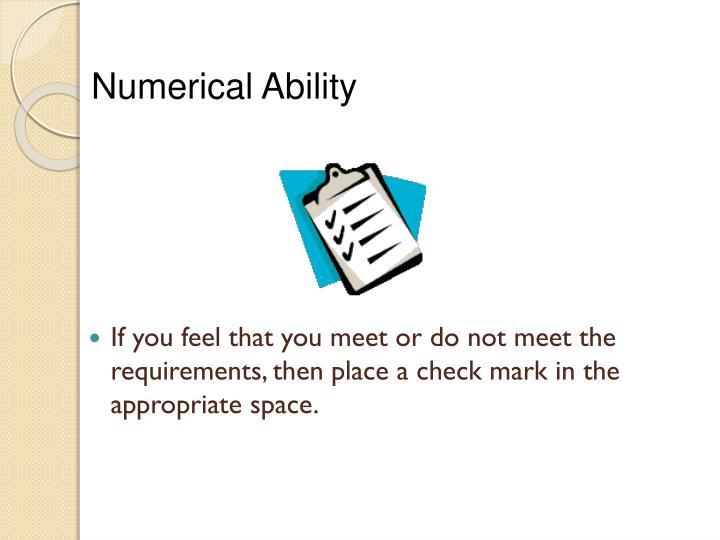 Numerical Ability