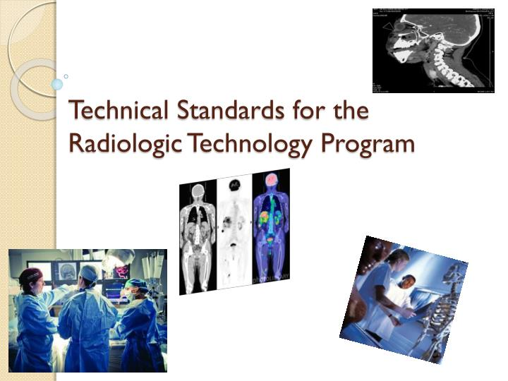 Technical Standards for the Radiologic Technology Program