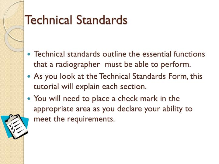Technical Standards