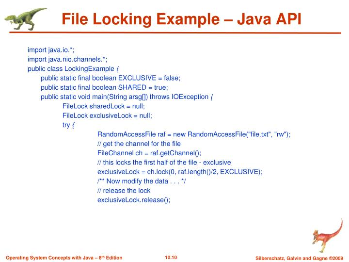 File Locking Example – Java API