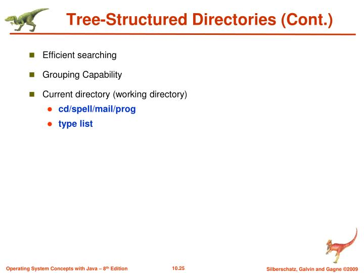 Tree-Structured Directories (Cont.)