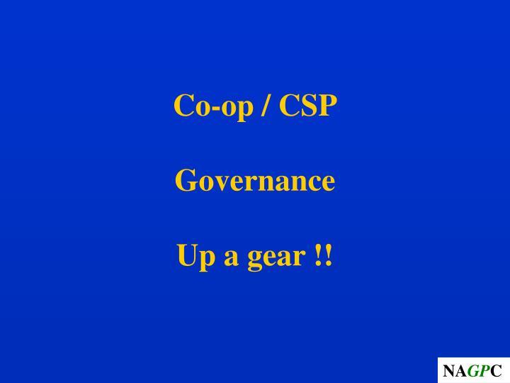Co-op / CSP