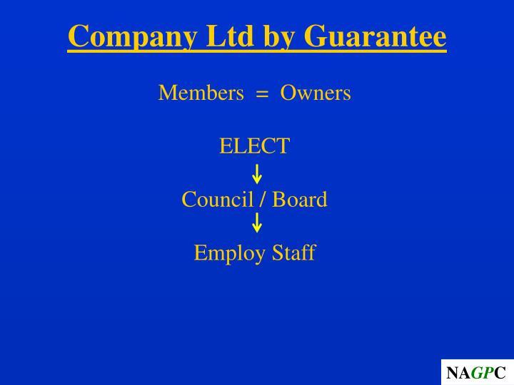 Company Ltd by Guarantee