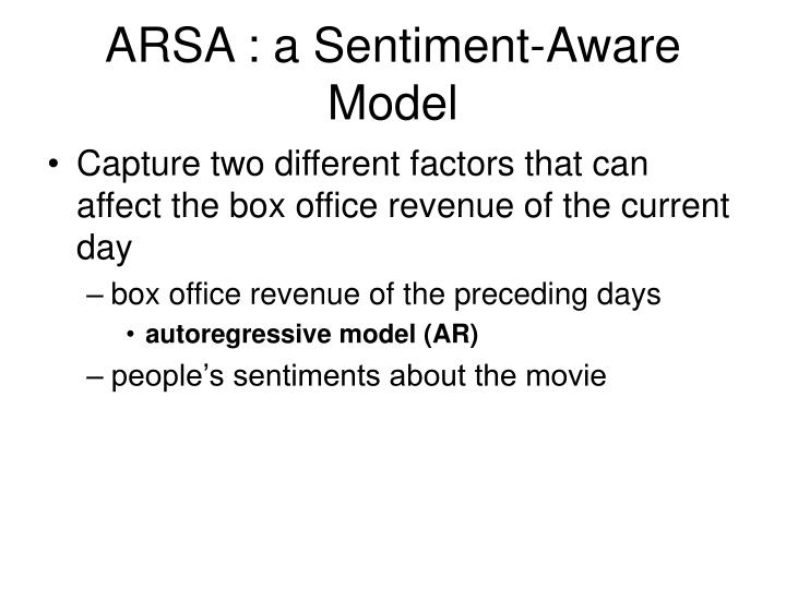 ARSA : a Sentiment-Aware Model