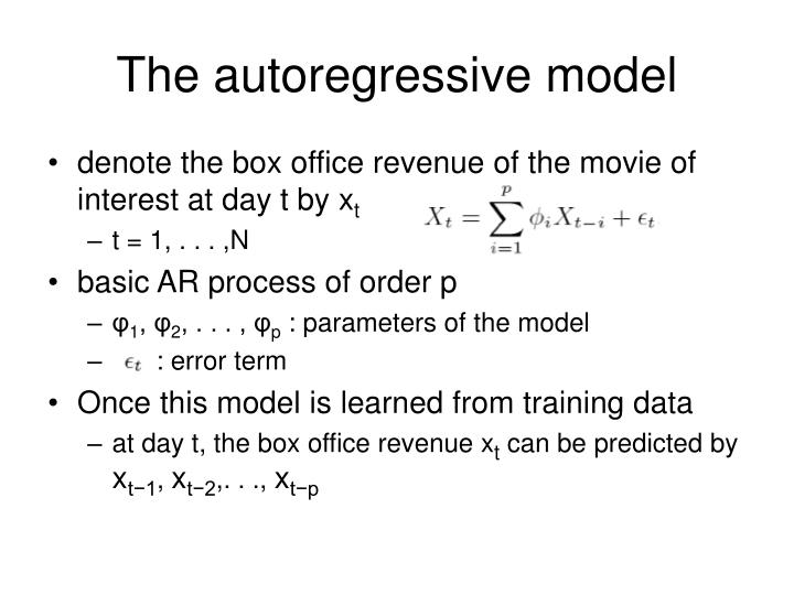 The autoregressive model