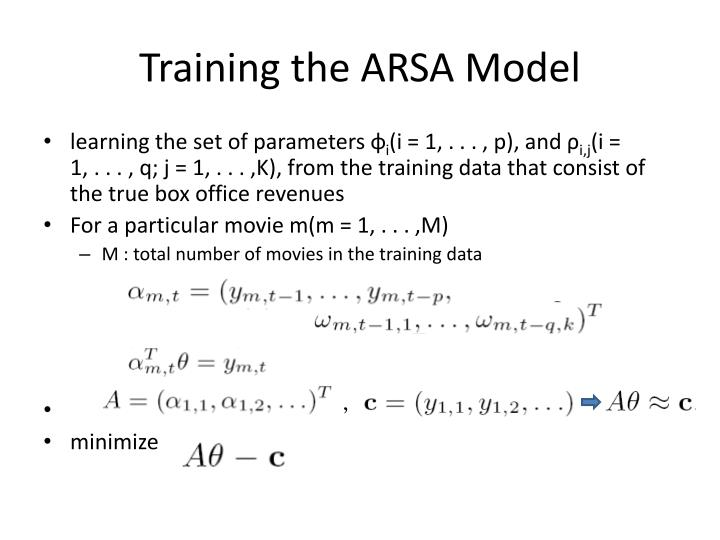 Training the ARSA Model
