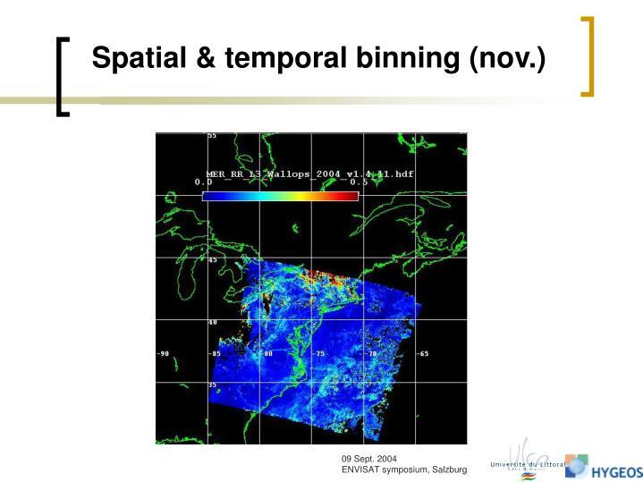 Spatial & temporal binning (nov.)