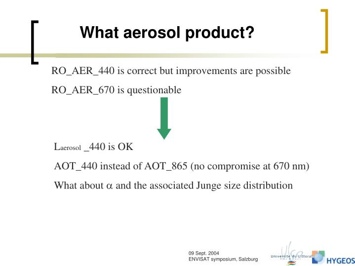 What aerosol product?