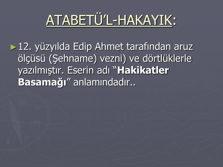 ATABETL-HAKAYIK