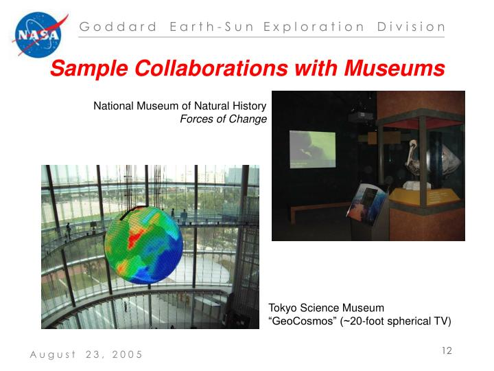 Sample Collaborations with Museums