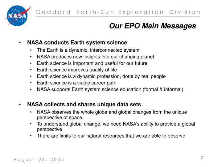 Our EPO Main Messages
