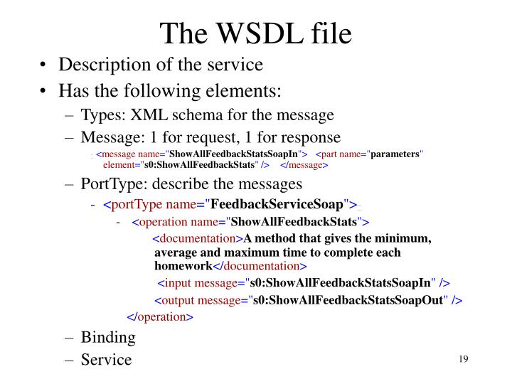 The WSDL file