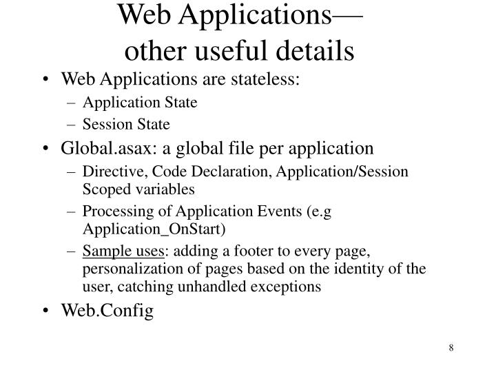 Web Applications—