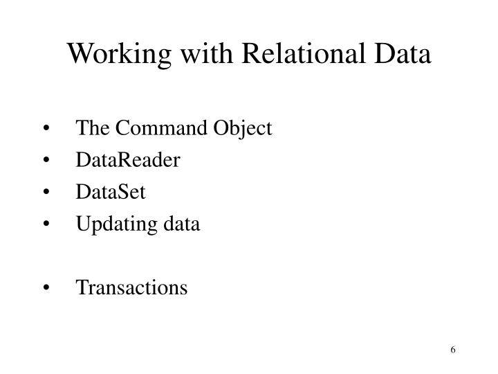 Working with Relational Data
