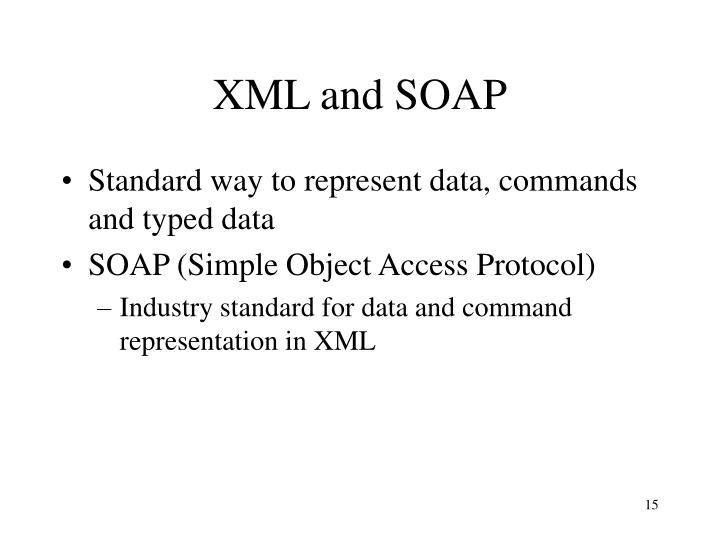 XML and SOAP
