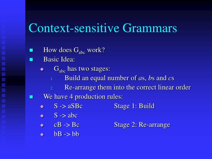 Context-sensitive Grammars